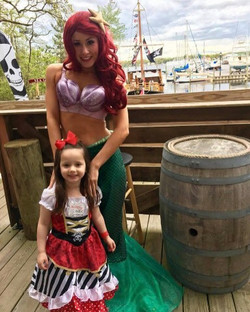 Wishing everyone a magical #mermaidmonday from our favorite mermaid and pirate princess duo 🐚💀💁 _