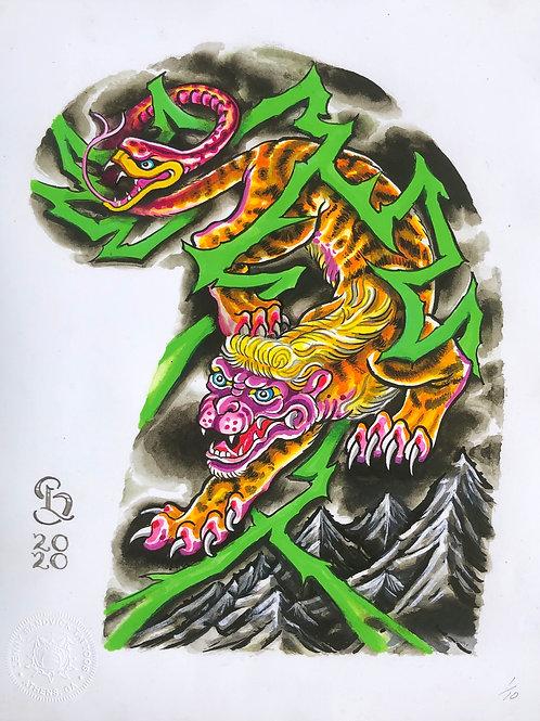 Lenny Sandvick: Tattoo Half Sleeve Template: Nue (Chimaera)