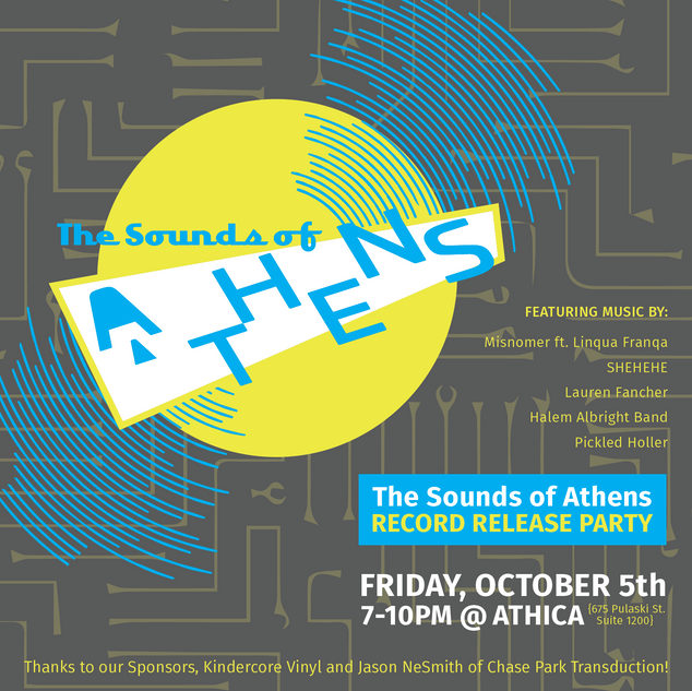 The Sounds of Athens Record Release Event Graphics
