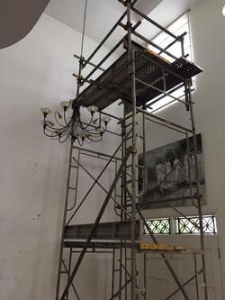 Metal , wood or aluminium scaffold