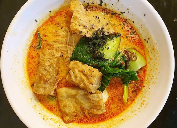 Curry Yong Tau Foo Rice with egg