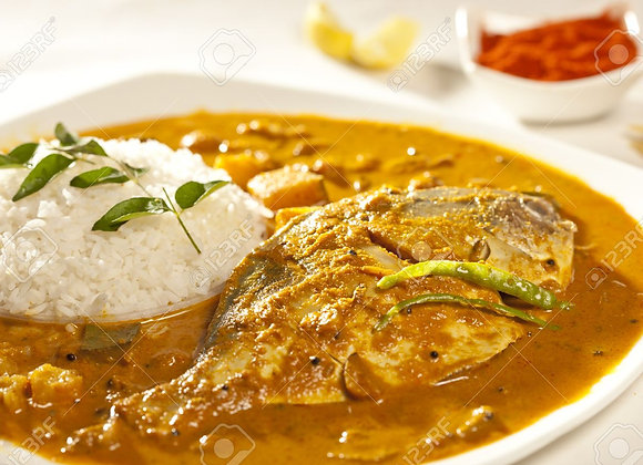 Fish Curry Rice with egg
