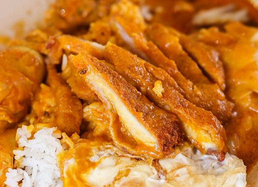 Curry Chicken Rice with Eggs