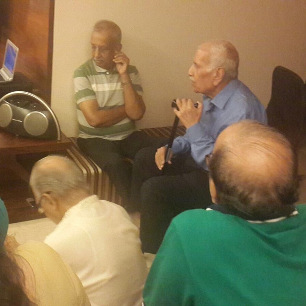 Addressing the senior citizens about Anx