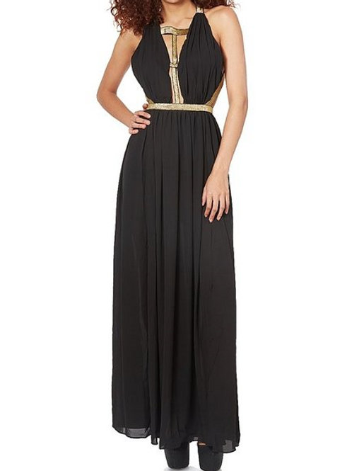 Womens Cut out Chiffon Maxi Dress