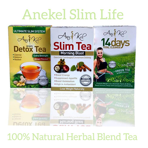 Slim Tea - detox 30 days Ginger - 14 days total Cleanse Tea