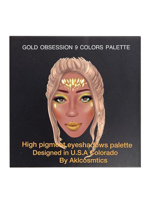 9 colors pro palette gold obsession