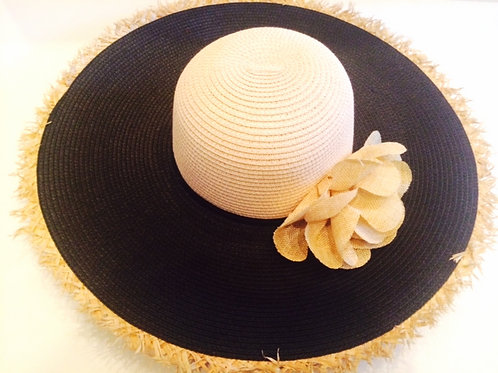 Black Straw Sun Hat