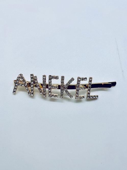 gold metal hair clips