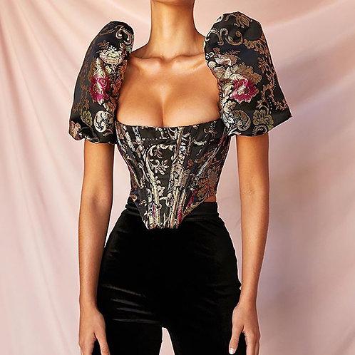 Boned bustier blouse