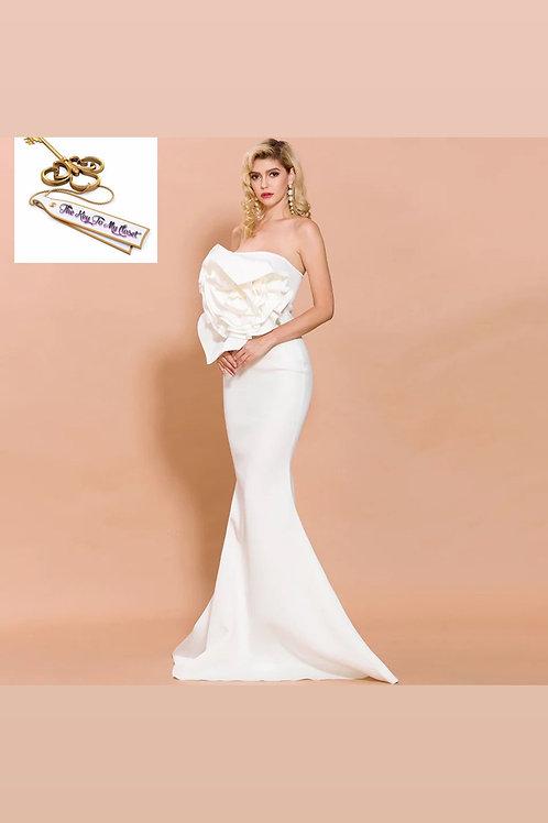 the 3d white foxy dress