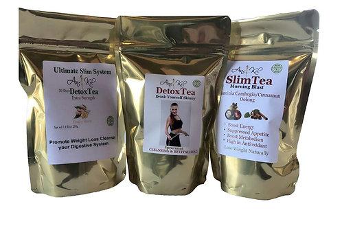 Spearmint Detox+SlimTea+30Days Ginger Detox Tea