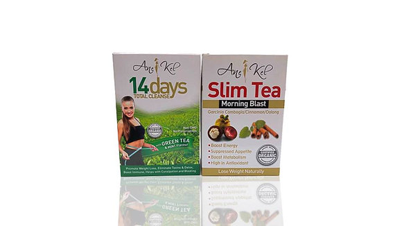 14 days total cleanse +morning blast slim tea