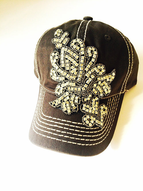 Dusty Brown Bling Hat