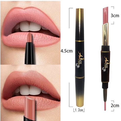 2 in 1 luxury Matte lipstick and liner #12