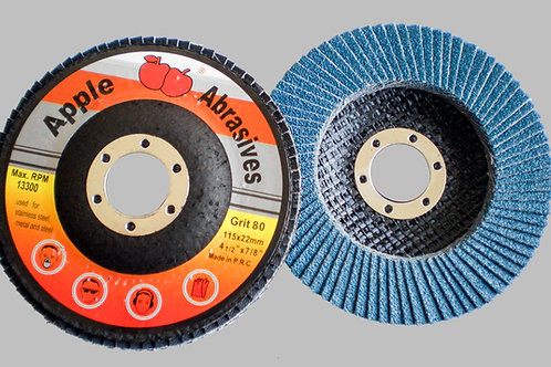 Apple Abrasive Standard Blue flap disc for polishing and grinding with machinery