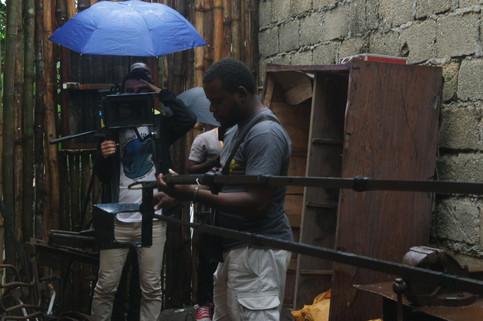 Benjamin en tournage, août 2019