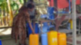 Centre pilote de traitement d'eau portab