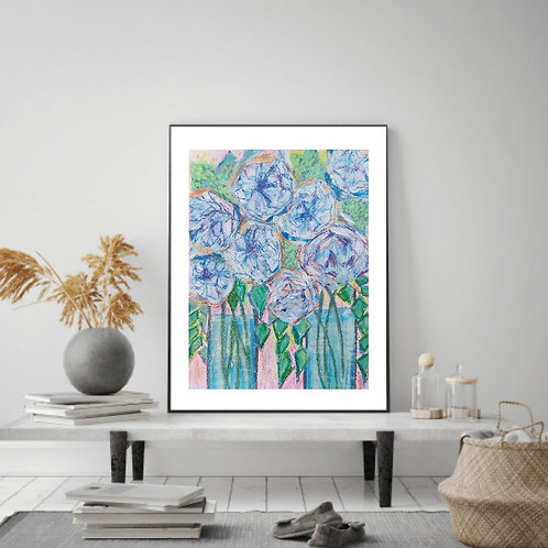 Stay Together - Floral Paper Painting Unframed - Original Painting