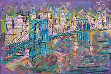 Brooklyn Bridge_24 x 38_Munazzah Farhan(