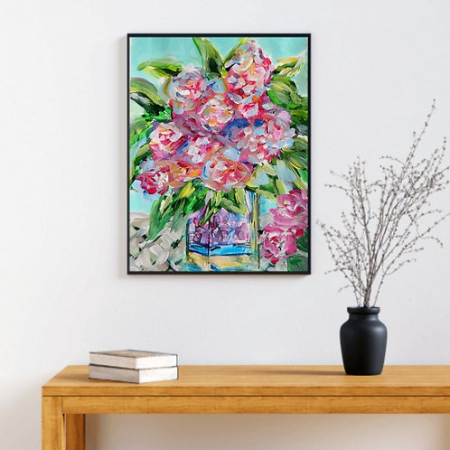 Cherished Love - Floral Paper Painting Unframed - Original Painting