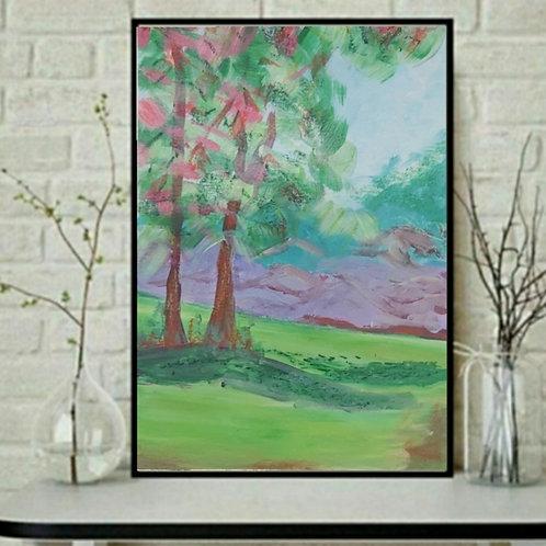 """Love, till the end"" Landscape Paper Painting"