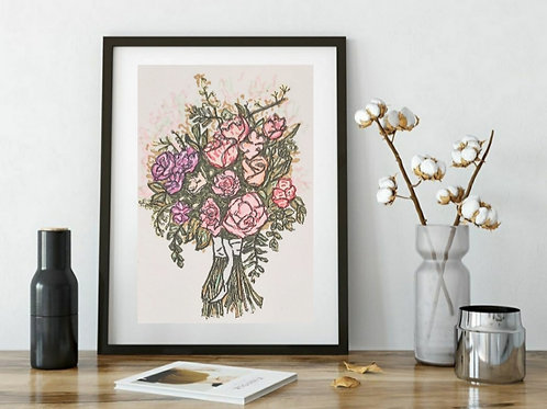 Hand Drawn illustration Cute Bouquet Series -3 , Printable Art