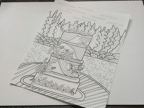 Hand Drawn Coloring Page 01 - Printable - Instant Download