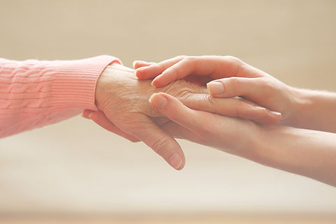 Helping hands, care for the elderly conc