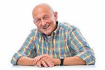 Portrait of a happy senior man smiling i