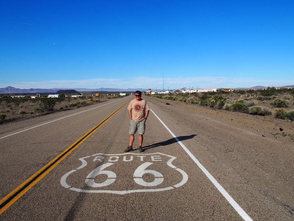 Route 66 California. Roy's Cafe and The Amboy Crater