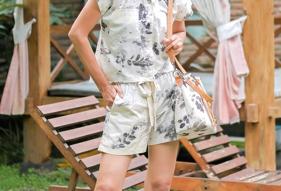 Jenifer Eco Print Short Pants and Eco Print Skirt