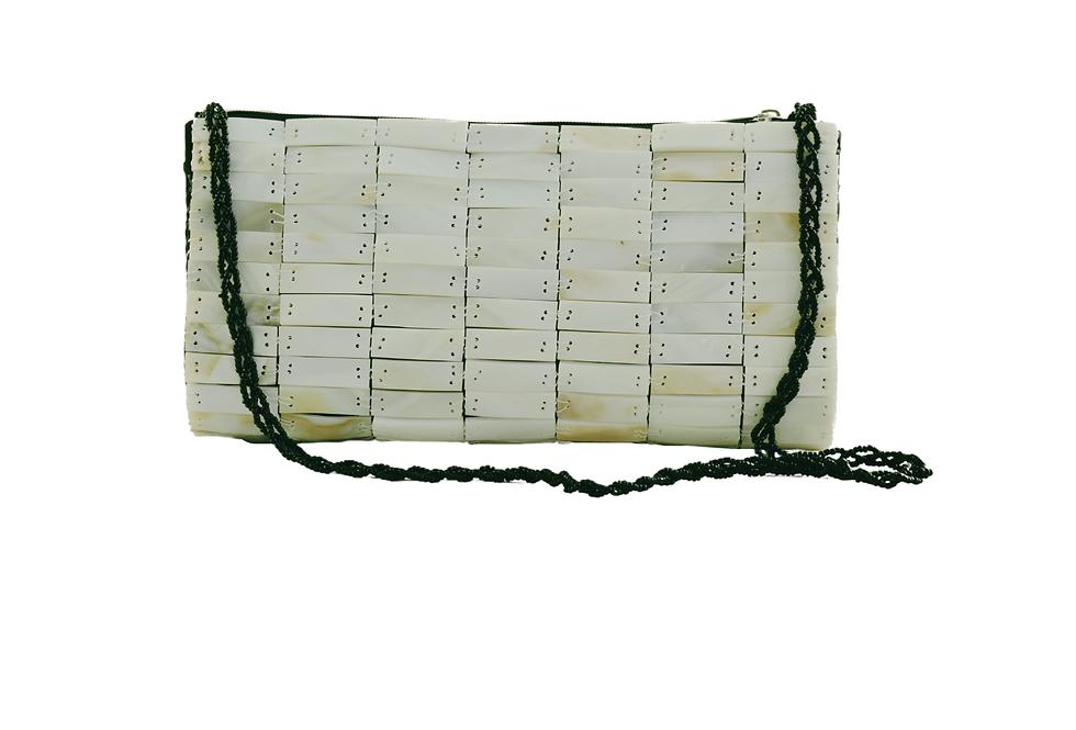 White Pearl Clutch Bag