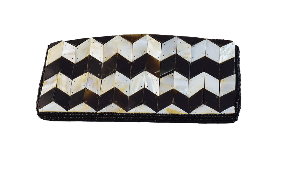 Black and White Pearl Wallet