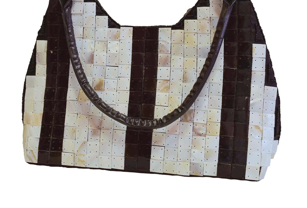 Black Stripes Pearl Bag