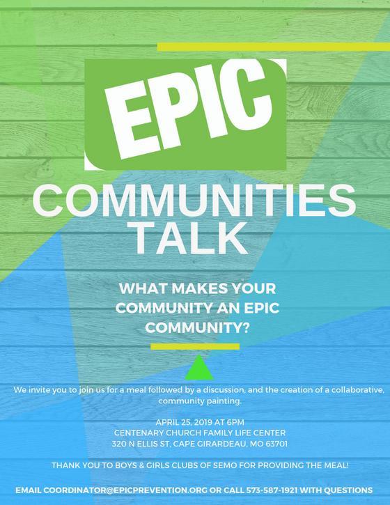 EPIC Communities Talk Event and T-Shirt Design Contest
