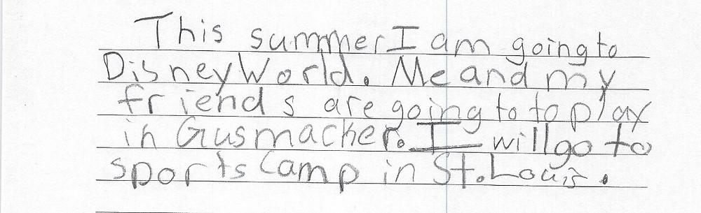 David's Summer Plans