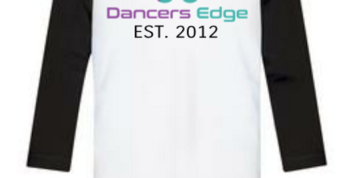 Dancers Edge Youth Baseball T-shirt