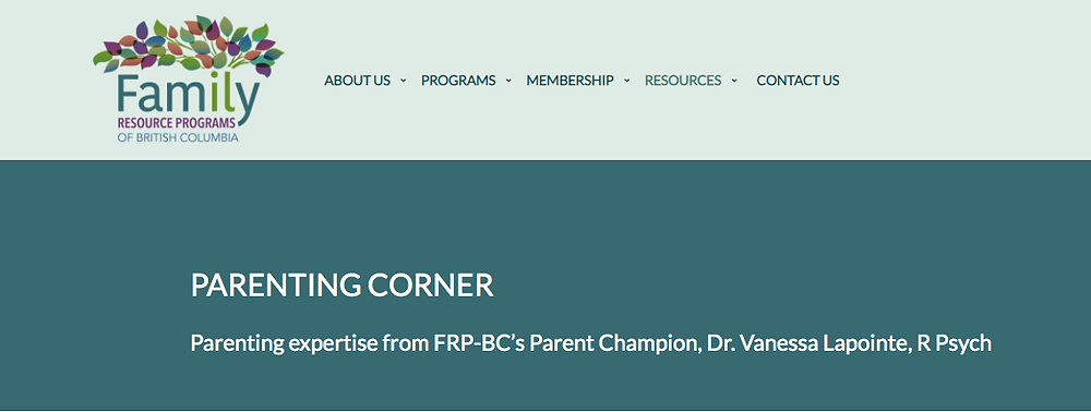 Screenshot FRP-BC website to show nonprofit using blog to engage stakeholders