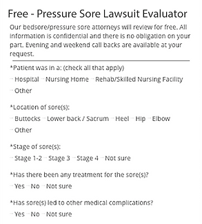 pressure sores, nursing home, decubitus ulcer lawsuits