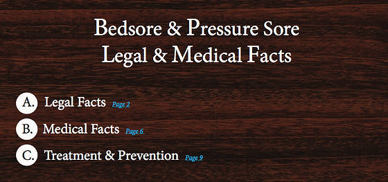 Bedsore Information facts