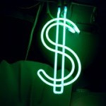 Neon Dollar Sign