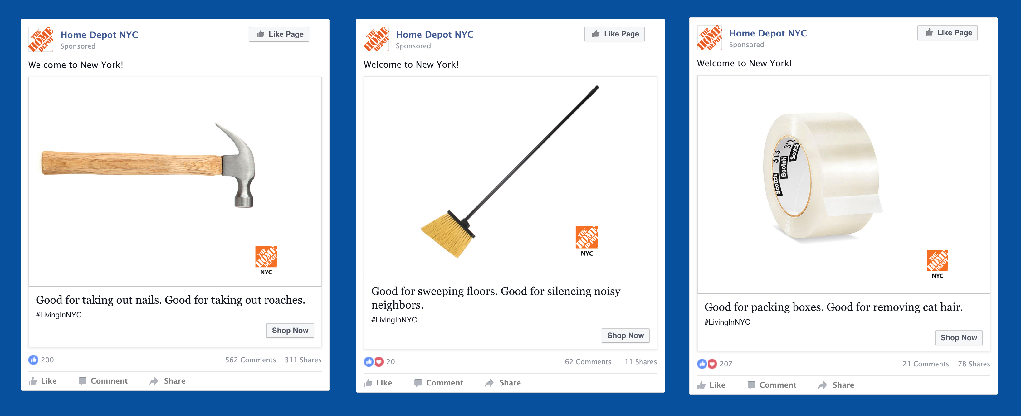 Facebook Advertising - Home Depot NY