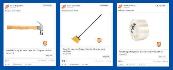Facebook. Home Depot NYC