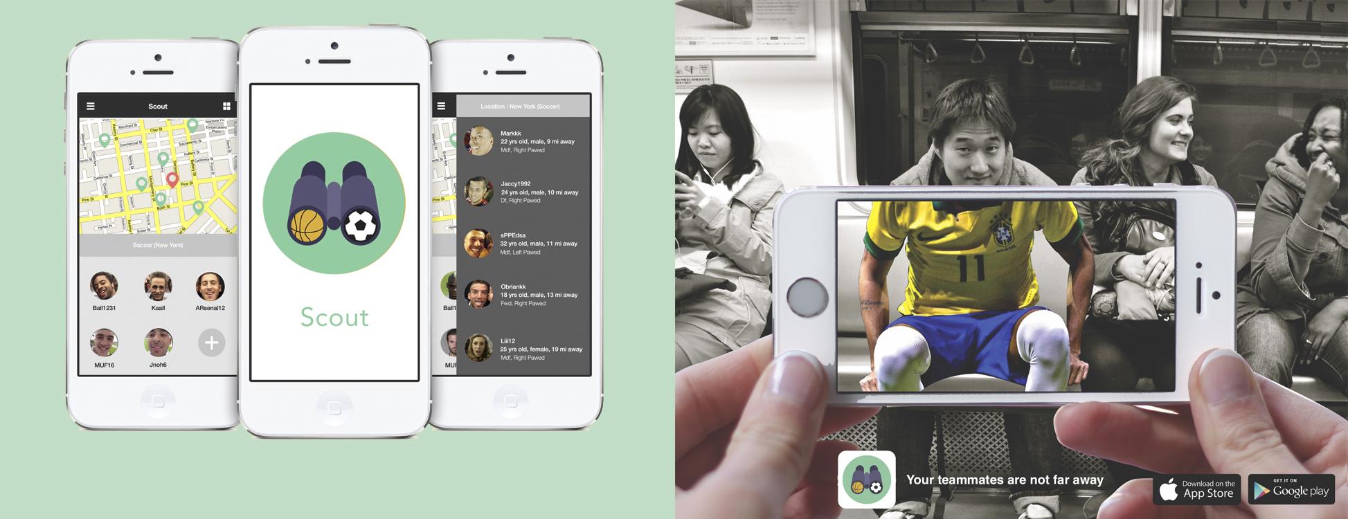Scout: App concept & Ad Campaign
