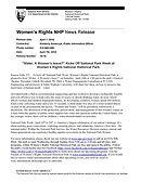 Press Release April 7 2016 Water A Women