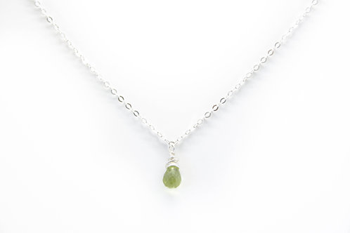 Peridot Dainty Necklace
