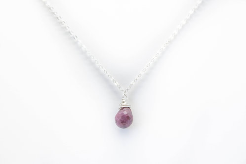 Ruby Dainty Necklace