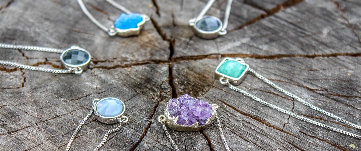 Delicate Gemstone Bracelets ♕