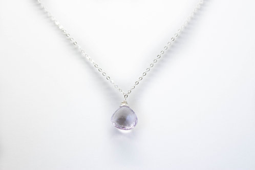 Pink Amethyst Dainty Necklace